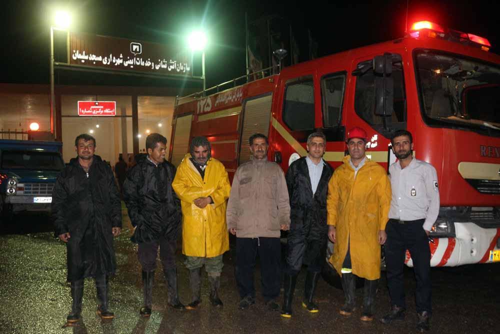 پرسنل آتش نشانی مسجدسلیمان