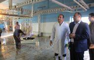 بازدید فرماندار مسجدسلیمان از کشتارگاه شهرداری