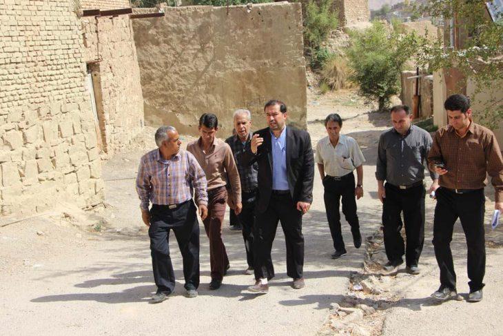 بازدید میدانی شهردار مسجدسلیمان از محلات سطح شهر