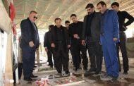 برگزاری آیین معنوی غبارروبی و عطر افشانی گلزار شهدا توسط شهرداری مسجدسلیمان