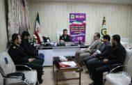 دیدار شهردار، و اعضای شورای اسلامی شهر مسجدسلیمان با فرماندهی نیروی انتظامی
