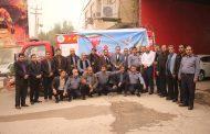 بزرگداشت شهدای آتش نشان حادثه پلاسکو، توسط سازمان آتش نشانی شهرداری مسجدسلیمان