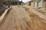 گزارش تصویری از مراحل زیرسازی آسفالت محله نورآباد