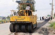 اجرای عملیات ترمیم و لکه گیری آسفالت معابر و خیابانهای شهر مسجدسلیمان