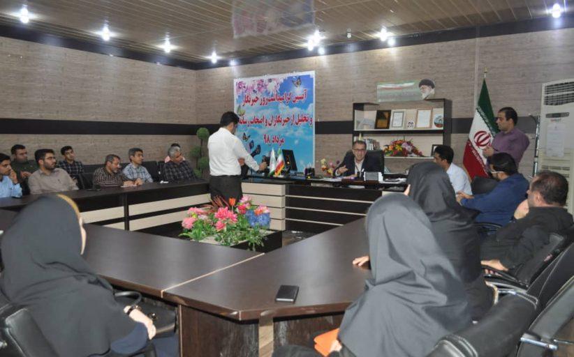 آیین گرامیداشت روز خبرنگار و تجلیل از اصحاب رسانه توسط شهرداری مسجدسلیمان برگزار شد