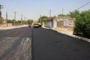 زیرسازی و روکش آسفالت خیابان شیخ مندنی، حدفاصل سه راهی سالور و مسجد مراد آباد در حال انجام است