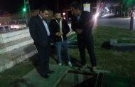 بازدید شبانه دکتر شعبانی شهردار مسجدسلیمان از روند تعمیرات و اصلاح میادین