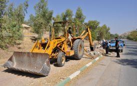 آغاز عملیات بهسازی و کف پوش گذاری پیادهرو مسیر پارک کوهستانی ملت تا منطقه بی بیان
