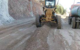 گزارش تصویری عملیات تعریض جاده ورودی به منطقه سبزآباد