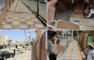 شهردار مسجدسلیمان: کف پوش گذاری سه راهی کمیته امداد ادامه دارد