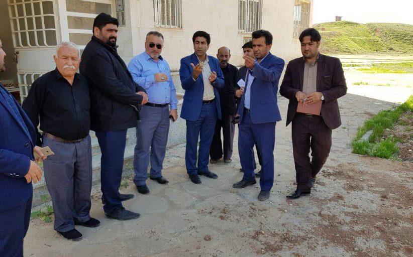 بازدید اعضای شورای شهر مسجدسلیمان از وضعیت واحدهای آماده واگذاری شهرک ولیعصر (عج) + تصاویر