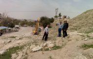 طرح عملیات تعریض جاده آرامستان کلگه اجرایی گردید+تصاویر
