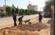 گزارش تصویری از زیر سازی ترمیم نوار حفاری روکش آسفالت منطقه چهاربیشه