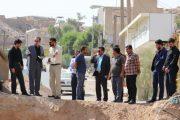 بازدید میدانی شهردار و اعضای شورای اسلامی شهر مسجدسلیمان از پروژه های عمرانی