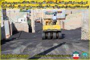 اجرای عملیات روکش آسفالت گرم منطقه نفتک توسط شهرداری مسجدسلیمان