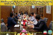 جلسه بررسی وضعیت منازل تخریب شده براثر رانش کوه منطقه نفتک برگزار شد
