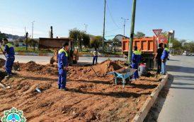 خاکبرداری و زیرسازی بلوار پنج بنگله جهت زیباسازی فضای شهری
