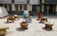 نصب سفره هفت سین در میدان جانباز (میدان بانک ملی) توسط شهرداری مسجدسلیمان