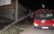 ضدعفونی منطقه پشت برج، همافران و خیابان حنیف نژاد توسط شهرداری مسجدسلیمان